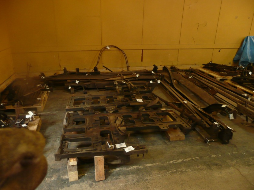 Textile machinery ready to be assembled